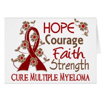 Mieloma múltiple de la fuerza 3 de la fe del valor tarjeta de felicitación