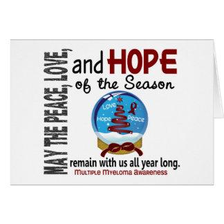 Mieloma múltiple del globo 1 de la nieve del día tarjeta de felicitación