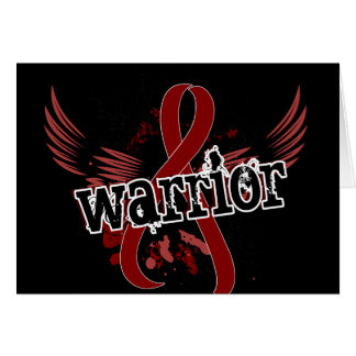 Mieloma múltiple del guerrero 16 tarjeta de felicitación