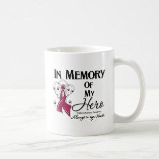 Mieloma múltiple en memoria de mi héroe taza básica blanca