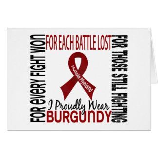 Mieloma múltiple llevo orgulloso Borgoña 2 Tarjeton