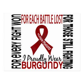 Mieloma múltiple llevo orgulloso Borgoña 2 Tarjeta Postal