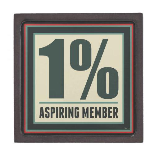 Miembro de aspiración del un por ciento caja de recuerdo de calidad