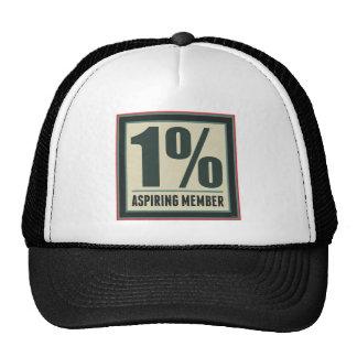 Miembro de aspiración del un por ciento gorras de camionero
