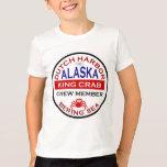 Miembro de equipo de Alaska de rey cangrejo del Playera