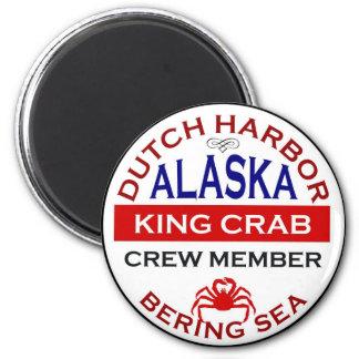 Miembro de equipo de Alaska de rey cangrejo del pu Imán Redondo 5 Cm