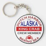Miembro de equipo de Alaska de rey cangrejo del pu Llavero Redondo Tipo Pin