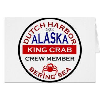 Miembro de equipo de Alaska de rey cangrejo del pu Tarjeta De Felicitación