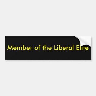 Miembro de la élite liberal pegatina de parachoque