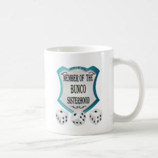 miembro de la hermandad del bunco taza de café