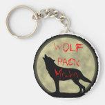 Miembro de la manada de lobos llavero redondo tipo pin