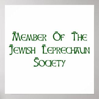Miembro de la sociedad judía del Leprechaun Impresiones