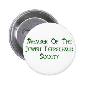 Miembro de la sociedad judía del Leprechaun Pin Redondo De 2 Pulgadas