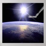 Miembro de la tierra del transbordador espacial poster