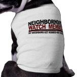 Miembro de la vigilancia vecinal camiseta de perro