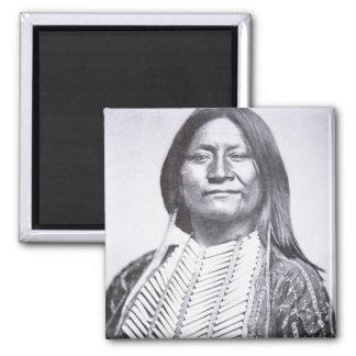 Miembro de una tribu del Comanche, 1872 (foto de b Imán Cuadrado