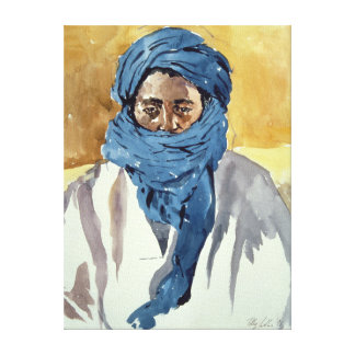 Miembro de una tribu Timbuctoo 1991 del Tuareg Impresion De Lienzo