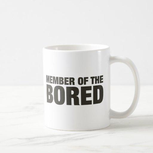 Miembro del agujereado tazas de café