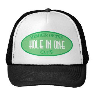 Miembro del agujero en un club gorras de camionero
