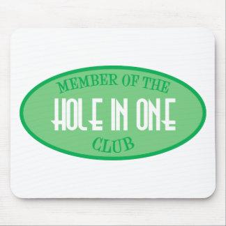 Miembro del agujero en un club alfombrilla de ratón