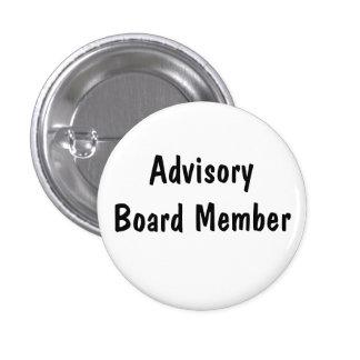 Miembro del comité consultivo pin redondo 2,5 cm
