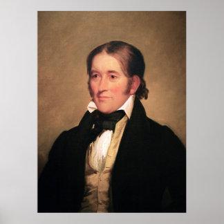 Miembro del Congreso Davy Crockett por Chester Har Póster