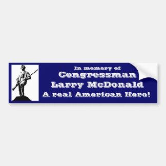 Miembro del Congreso Larry McDonald Pegatina Para Auto