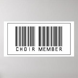 Miembro del coro del código de barras póster