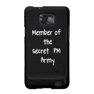 Miembro del ejército del secreto P.M. Galaxy SII Carcasa