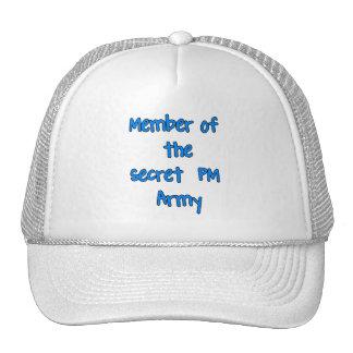 Miembro del ejército del secreto P.M. Gorros