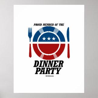 Miembro del fiesta de cena póster