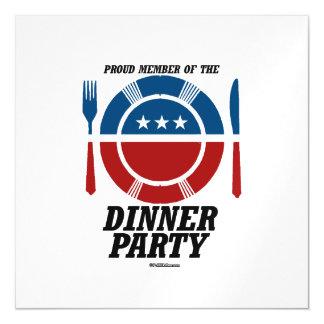 Miembro del fiesta de cena