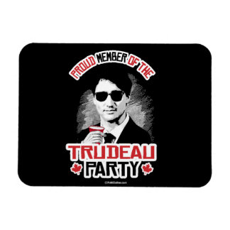 Miembro del fiesta de Trudeau - .png Imán Flexible