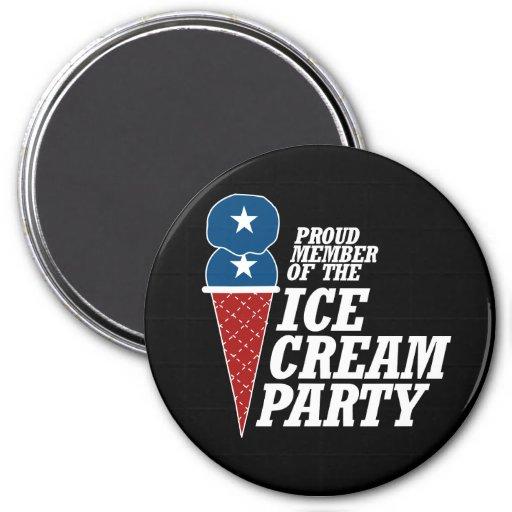 Miembro del fiesta del helado - .png imanes para frigoríficos