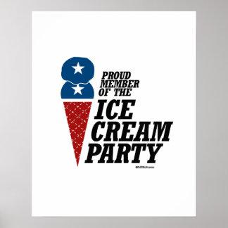 Miembro del fiesta del helado póster