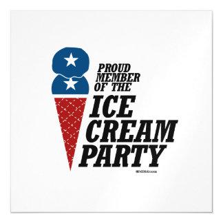 Miembro del fiesta del helado