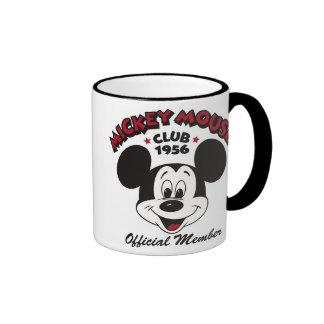 Miembro del funcionario del club 1956 de Mickey Mo Tazas De Café