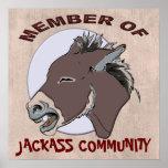 MIEMBRO DEL JACKASS COMMMUNITY POSTERS