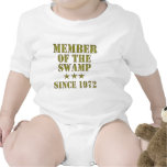Miembro del pantano trajes de bebé