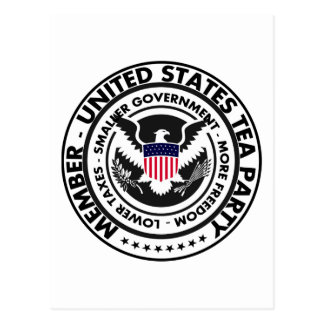 Miembro: Fiesta del té de Estados Unidos Tarjetas Postales