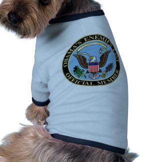 Miembro oficial de la lista de los enemigos de Oba Camiseta De Perro
