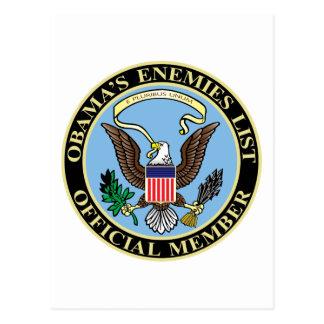 Miembro oficial de la lista de los enemigos de Oba Tarjeta Postal