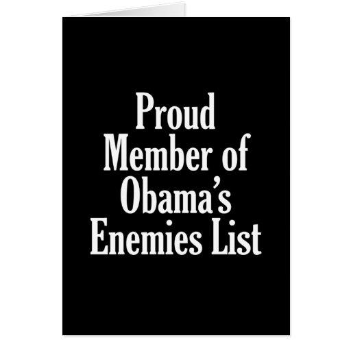 Miembro orgulloso de la lista de los enemigos de O Tarjeta De Felicitación