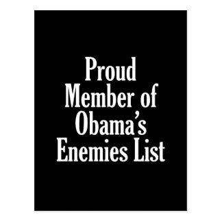 Miembro orgulloso de la lista de los enemigos de O Tarjeta Postal