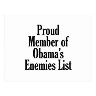 Miembro orgulloso de la lista de los enemigos de O Postales