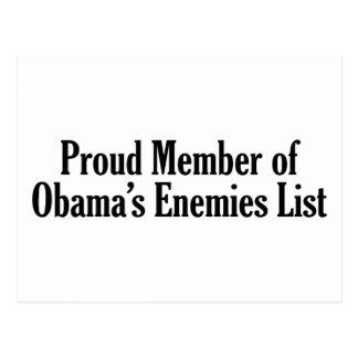 Miembro orgulloso de la lista de los enemigos de O Tarjetas Postales