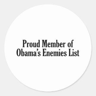 Miembro orgulloso de la lista de los enemigos de pegatina redonda