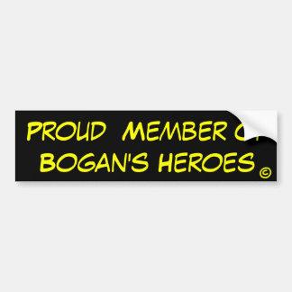 Miembro orgulloso de los héroes de Bogan Pegatina Para Auto