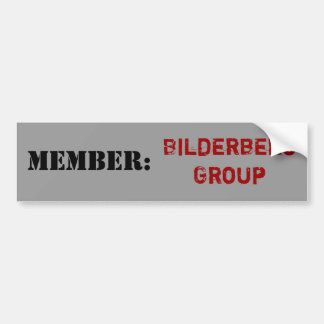 Miembro: Pegatina para el parachoques del grupo de Etiqueta De Parachoque