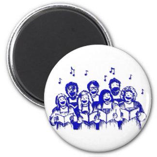 Miembros/cantantes del coro imán redondo 5 cm